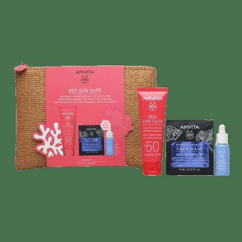 Περιποίηση Προσώπου Apivita – Promo Bee Sun Safe Anti-Spot & Anti-aging Defense Face Cream Κρέμα Προσώπου Κατα των Πανάδων & των Ρυτίδων SPF50