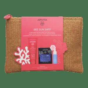 Περιποίηση Προσώπου Apivita – Promo Bee Sun Safe Hydra Sensitive Soothing Face Cream Καταπραϋντική Κρέμα Προσώπου για Ευαίσθητες Επιδερμίδες SPF50+ 1τμχ