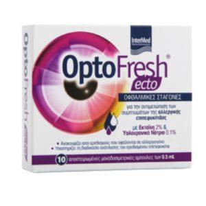 Οφθαλμικές Σταγόνες-Ph Intermed – Optofresh Ecto Eye Drops Σταγόνες Ματιών για Aνακούφιση απο Συμπτώματα των Αλλεργιών 10×0.5ml