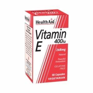 Βιταμίνες Health Aid – Βιταμίνη E 400IU Οικονομική Συσκευασία Αντιοξειδωτικό Συμπλήρωμα Διατροφής 60caps