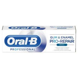 Οδοντόκρεμες-ph Oral-B – Professional Gum and Enamel Οδοντόκρεμα για Ευαίσθητα Ούλα και Αναδόμηση του Σμάλτου 75ml