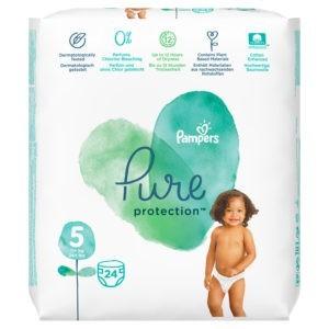 Μαμά - Παιδί Pampers – Pure Protection Βρεφικές Πάνες No 5 (11+kg) 24τμχ