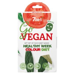 Περιποίηση Προσώπου 7Days – Promo Go Vegan Healthy Week Ολοκληρωμένο Σετ με 7 Πιστοποιημένες Μάσκες Ομορφιάς Προσώπου 7τμχ