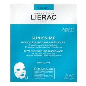 Αντηλιακά Προσώπου Lierac – Sunissime Μάσκα με Άμεση Καταπραϋντική Δράση για Μετά τον Ήλιο 18ml
