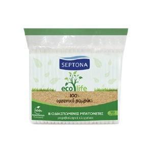 Διάφορα Αναλώσιμα-ph Septona – Ecolife Βιοδιασπώμενες Μπατονέτες από 100% Βιολογικό Βαμβάκι 100τμχ