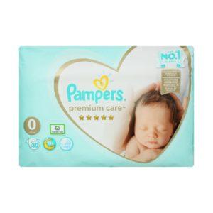 Μαμά - Παιδί Pampers – Premium Micro Care Value Pack No 0 (<3kg) Βρεφικές Πάνες 30pcs