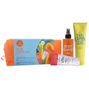 Καλοκαίρι Youth Lab – Promo Sun & After Sun Value Set Μικτή/Λιπαρή Επιδερμίδα: Έγχρωμη Αντηλιακή Κρέμα Προσώπου SPF50 για Λιπαρές Επιδερμίδες 50ml & Body Guard Αντηλιακό Γαλάκτωμα Προσώπου-Σώματος SPF30 200ml & Δώρο Tan & After Sun Κρεμοτζέλ 150ml