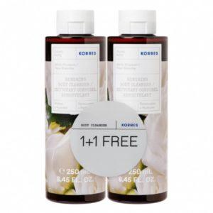 Αφρόλουτρα Korres – Renewing Body Cleanser Λευκά Άνθη 250ml (1+1 Δώρο)