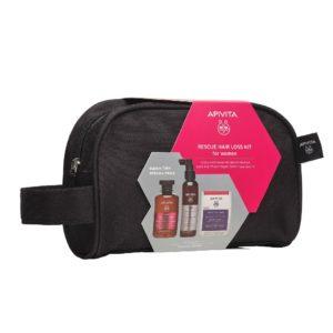 Γυναίκα Apivita – Promo Rescue Hair Loss Kit for Women Τονωτικό Σαμπουάν για Γυναίκες 250ml, Λοσιόν κατα τις Τριχόπτωσης 150ml & Συμπλήρωμα Διατροφής για Υγιή Μαλλιά και Νύχια 30 κάψουλες