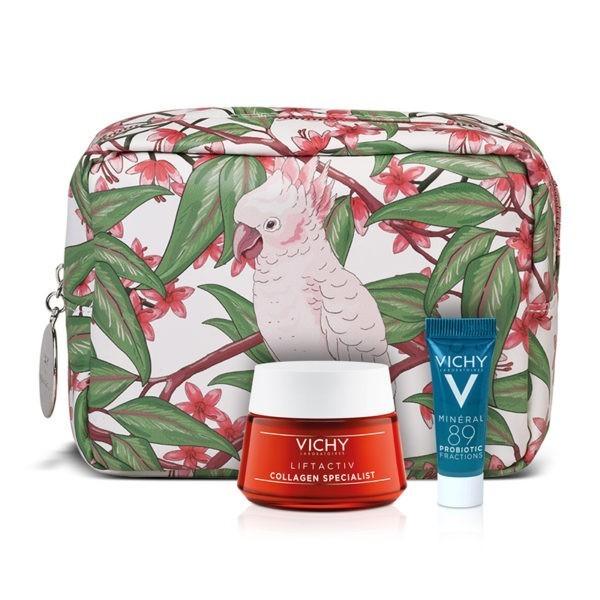 Περιποίηση Προσώπου Vichy – Promo Liftactiv Collagen Specialist Αντιρυτιδική Κρέμα για Κάθε Τύπο Δέρματος 50ml και Δώρο Mineral 89 Probiotic 5ml + Πρακτικό Νεσεσέρ