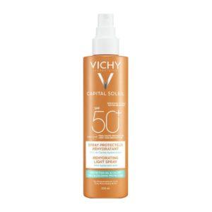 Άνοιξη Vichy – Capital Soleil SPF50+ Ενυδατικό Spray Ανάλαφρη Υφή με Ενυδατικό Υαλουρονικό Οξύ 200ml