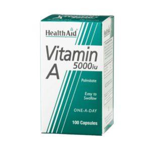 Βιταμίνες Health Aid – Vitamin A 5000iu Palmitate 100Caps