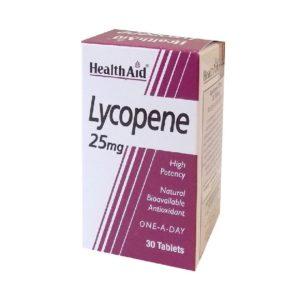 Βότανα Health Aid – Lycopene 25mg Λυκοπένιο 30Tablets