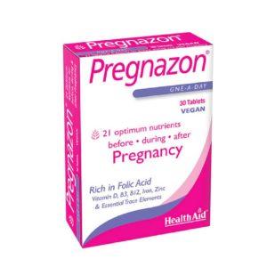 Βιταμίνες Health Aid – Pregnazon Συμπλήρωμα Διατροφής Εγκυμοσύνης 30Tablets