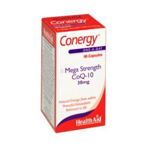 Βιταμίνες Health Aid – Conergy Mega Strength CoQ-10 30mg Συνένζυμο 90Caps