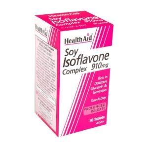 Βότανα Health Aid – Soy Isoflavone Complex 910mg Φυσικό Εκχύλισμα Σόγιας 30Tablets