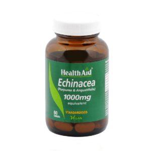 Βότανα Health Aid – Echinacea 1000mg Εχινάκεια 60Tablets