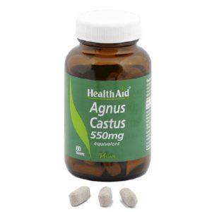 Βότανα Health Aid – Agnus Castus 550mg Για τον Γυναικείο Κύκλο 60Tablets