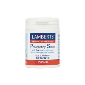 Μέταλλα - Ιχνοστοιχεία Lamberts – Phosphatidyl Serine Φωσφατιδυλσερίνη Συμπλήρωμα Διατροφής για την Διατήρηση της Φυσιολογικής Γνωστικής Λειτουργίας 60 tabs
