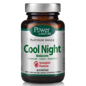 Βιταμίνες Power Health – Platinum Cool Night Melatonin Συμπλήρωμα Διατροφής για Ήρεμο Ύπνο 30caps