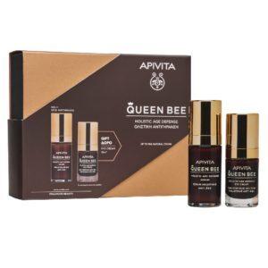 Περιποίηση Προσώπου Apivita – Promo Queen Bee Ορός Ολιστικής Αντιγήρανσης 30ml και Δώρο Κρέμα Ματιών Ολιστικής Αντιγήρανσης 15ml