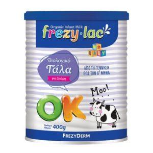 Βρεφικά Γάλατα FrezyDerm – Frezylac OK Βιολογικό Γάλα για Βρέφη από την Γέννηση έως τον 6ο Μήνα 400g