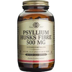 Αντιμετώπιση Solgar – Psyllium Husks Fibre 500 MG για την αποτοξίνωση εντέρου και δίαιτα 200 Κάψουλες