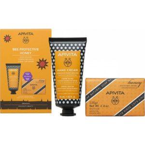 Γυναίκα Apivita – Apivita Bee Protective Honey Κρέμα Χεριών Εντατικής Ενυδάτωσης 50ml & Σαπούνι Μέλι 125g