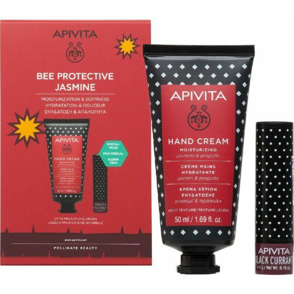 Γυναίκα Apivita – Promo Bee Protective Jasmine Κρέμα Χεριών Ενυδάτωσης με Γιασεμί & Πρόπολη 50ml & Lipcare Φραγκοστάφυλο 4.4.g