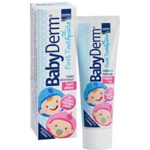 Οδοντόκρεμες-ph Intermed – Babyderm First Οδοντόκρεμα με Γεύση Τσιχλόφουσκα 50ml