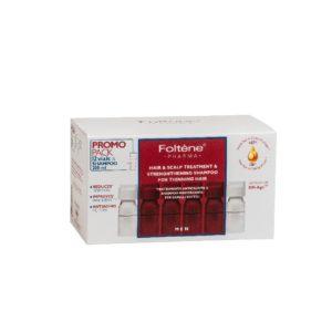 Περιποίηση Μαλλιών-Άνδρας Foltene – Promo Pack Men Hair and Scalp Treatment & Shampoo Αγωγή με Αμπούλες Κατά της Ανδρικής Τριχόπτωσης 12Abs & Σαμπουάν Ενδυνάμωσης 200ml